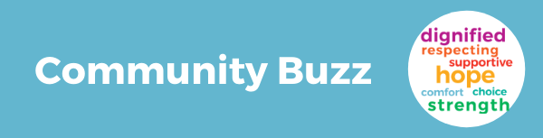 Community buzz food shelf words
